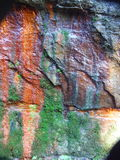 Seeping Canyon. Oxides and rusts seeping out of canyon wall Stock Images