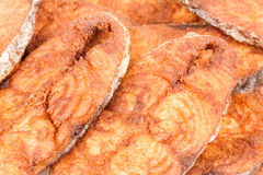 Seer Fish Fillets Fry Macro Stock Images