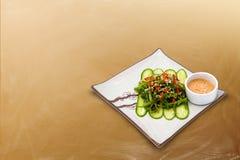 Seesalat mit Soße Stockfotos