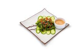 Seesalat mit Soße Lizenzfreies Stockbild