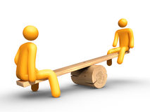 Seesaw. 3d rendered image on white background: Seesaw Stock Photography