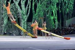 Seesaw acrobatic Stock Image