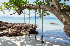 Seesaw on the beach of a tropical. Island Royalty Free Stock Photography