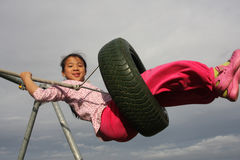Seesaw child Stock Photos