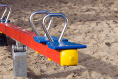 Seesaw. For children on a playground Stock Image