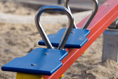 Seesaw. For children on a playground Royalty Free Stock Photo