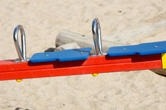 Seesaw. For children on a playground Royalty Free Stock Images