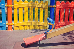 Seesaw in children playground Stock Image