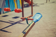 Seesaw in children playground Stock Photography