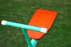 Seesaw. Close-up look on seesaw Royalty Free Stock Photography