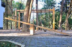 Seesaw in Daizheng park Royalty Free Stock Images
