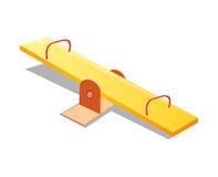 Seesaw isolated illustration Stock Photo