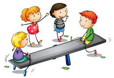 Seesaw kids Royalty Free Stock Photo