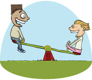Seesaw Kids Stock Images