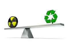 Seesaw nuclear recycling Stock Images