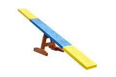 Seesaw Obstacle. Royalty Free Stock Photos