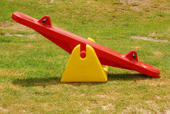 Seesaw in park Royalty Free Stock Image