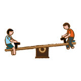 Seesaw playground icon image Stock Photography