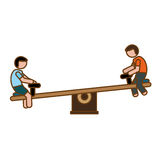 Seesaw playground icon image Royalty Free Stock Image