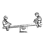 Seesaw playground icon image Royalty Free Stock Images