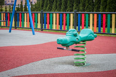 Seesaw. In playground located in the north of Spain, Asturias Royalty Free Stock Images
