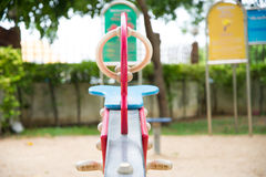 Seesaw at playground park Stock Image