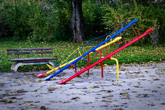 Seesaw or teeter-totter Royalty Free Stock Images
