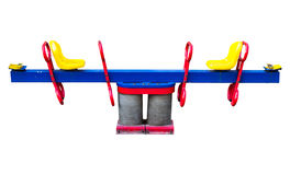 Seesaw. On white background Royalty Free Stock Images