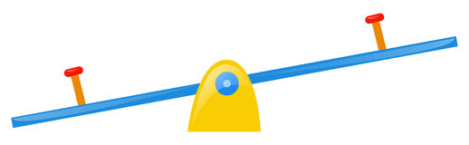 Seesaw on white background Royalty Free Stock Photos