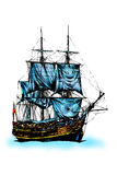 Seeschiff Stockfotografie
