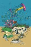 Seeschildkröte nahe Gili Meno Stockfotos