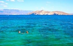 Seeschwimmen, Baska, Kroatien Lizenzfreies Stockfoto