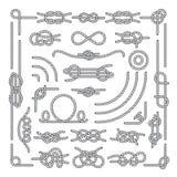 Seeseil knotet dekorative Weinleseelemente des Vektors vektor abbildung