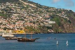 Seeseite von Funchal in Madeira-Insel, Portugal Stockbild