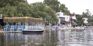 Seeseitenhotels Stockfoto