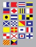 Seesignal-Markierungsfahnen Lizenzfreies Stockbild