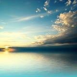 Seesonnenuntergang Stockfoto
