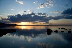 Seesonnenuntergang lizenzfreies stockbild
