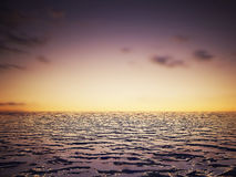Seesonnenuntergang-Landschaftsbild Lizenzfreies Stockfoto