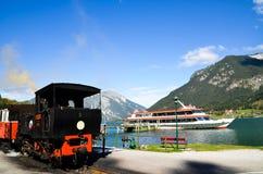 Seespitz station, ingång av Achensee i tyrol (Österrike) Royaltyfri Fotografi