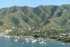Seestadt von Santa Marta. Lizenzfreie Stockfotografie