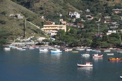 Seestadt von Santa Marta. Stockfoto