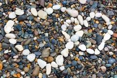 Seesteine breiteten Herz aus Stockbild
