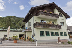Seestern guesthouse in Unterach, Austria. Royalty Free Stock Images