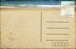 Seestrand auf Postkarte Lizenzfreies Stockfoto