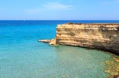 Seestrand Spiaggia-della Punticeddha, Salento, Italien Stockfoto