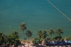 Seestrand von der Draufsicht | Sommerferien und -feiertag in Thailand Lizenzfreie Stockfotos