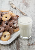 Seet fresh cookies with a cup of milk Stock Photography