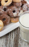 Seet fresh cookies with a cup of milk Royalty Free Stock Image