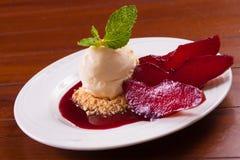 Seet Pear Dessert fotos de stock royalty free